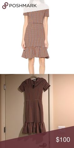 Opening Ceremony Lotus Dropped Ruffle Zipped Dress Never worn. Purchased from Barneys NY. Opening Ceremony Dresses Midi