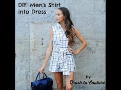 Trash to Couture: Upcycle a Men's Shirt into Rad Dress - YouTube