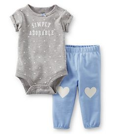 Carter´s Newborn-24 Months Dotted Bodysuit & Solid Pant Set | Dillard's Mobile