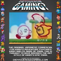 Kirby's Epic Yarn was inspired by the japanese commercial for Kirby's Adventure?