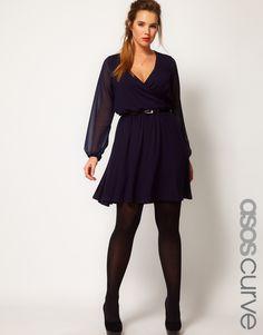 Wrap Dress With Chiffon Sleeves at ASOS