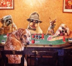 Dogs playing poker... . @dogswithcoffee created this homage for some of instagram's most celebrated canine names: @mervinthechihuahua @manny_the_frenchie @thiswildidea @munchkintheteddybear and of course @marniethedog . #dogswithcoffee#coffee#instadog#dostagram#doglover#doglovers#dogsofinstagram#coffeelove#instagood#ootd#instafashion#instamood#wiw#nyfw#style#dogs#love#kawaii#cute#instahappy#sartorial#dapper#photooftheday#かわいい#munchkinfriendsmondays by dogswithcoffee