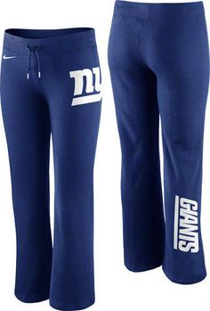 New York Giants Womens Blue Nike Tailgater Fleece Sweatpant