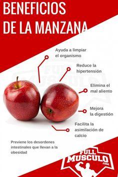 infografía de los beneficios de la manzana  Pinterest ;) | https://pinterest.com/cocinadosiempre
