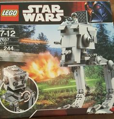 LEGO Star Wars AT-ST (7657) Retired 100% Complete Manual Box 2007 Used Once…