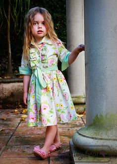 Floral Tuxedo Dress for baby toddler by bitsybear, via Etsy.