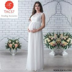 bdaf4b8254737 Melario Maternity Dress 2018 Pregnancy Clothes Pregnant Women Lady Elegant  Vestidos Lace Party Formal Evening White