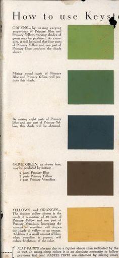 Devoe Show Card Colors Salesman Sample Card 9 x11 circa 1900 - sample general color chart