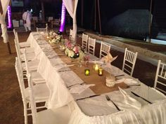 Beach Wedding at Punta Faro, Colombia by MY Group Eventos. Table setting