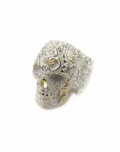 Day of the dead sugar skull ring