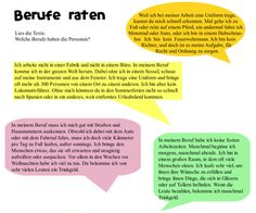 Berufe raten - Guess professions in German, free pdf work sheet with several exercises