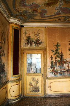 Palazzo Coccina Tiepolo Papadopoli by ValeryToth. via Sharon Phillips Chinoiserie, Rococo, Baroque, Wall Murals, Wall Art, Modern Mansion, Grisaille, Palazzo, Of Wallpaper
