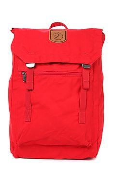 Fjallraven Backpack Foldsack No. 1 in Red: Karmaloop