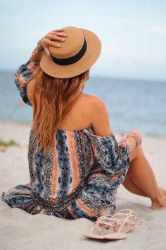 Off Shoulder Dress Beach Style