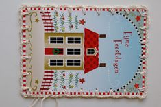 Do you also find it difficult to throw away old Christmas cards? Here's a way to give them a second life. Add a crochet scallop edge, some b...