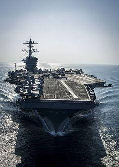 The Nimitz-class aircraft carrier USS Carl Vinson (CVN 70) prepares for flight operations. Carl Vinson is deployed