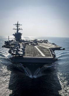 The Nimitz-class aircraft carrier USS Carl Vinson (CVN 70) prepares for flight operations. Carl Vinson is deployed