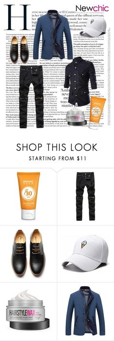"""#Newchic"" by kristina779 ❤ liked on Polyvore featuring men's fashion, menswear, polyvorefashion and polylove"