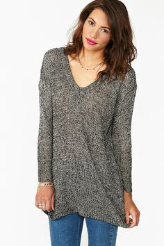 eb4ab1354ee Maddy Oversized Knit in Salt   Pepper Fashion Sale