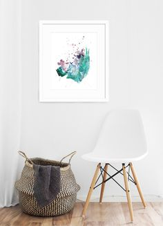 Shining Bright - Abstract Art Print by Kendra Castillo. Modern Office Design, Office Interior Design, Modern Art Prints, Fine Art Prints, Abstract Watercolor, Abstract Art, Cactus Photography, Succulent Wall Art, Southwestern Decorating