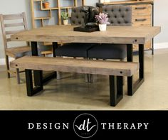 New York Dining Collection by LH Imports made from reclaimed wood