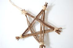 Twig Star - Organic Natural Christmas Decoration - Made with Wood from French Woodland. $7.00, via Etsy.