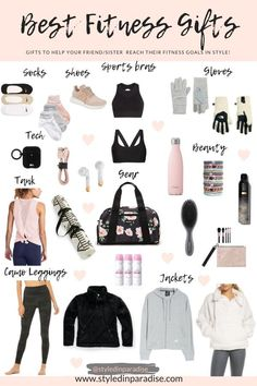 Looking for practical, yet cute gifts for that fitness lover in your life? Maybe they love to go to the gym, a yoga class, or simply go out to walk… Band Workout, Workout Wear, Fitness Tracker, Foto Sport, Gym Bag Essentials, Teenage Girl Gifts, Accesorios Casual, Fitness Gifts, At Home Gym