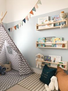 Boy Toddler Bedroom, Big Boy Bedrooms, Toddler Room Decor, Toddler Rooms, Baby Room Decor, Toddler And Baby Room, Baby Boy Nursery Decor, Kids Bedroom Paint, Bedroom Wall Colors