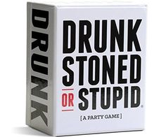 Buy Drunk, Stoned, or Stupid at Mighty Ape Australia. DRUNK STONED OR STUPID is a party game for you and your stupid friends. Each round a card is drawn and the group decides who in the group would be mo. Adult Party Games, Adult Games, Fun Games, Party Games For Adults, Game Party, 80s Party, Dice Games, Casino Party, Christmas Games For Adults