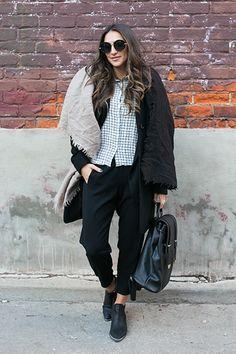 Toronto Street Style: Kristiana Rocks Shades and Plaid
