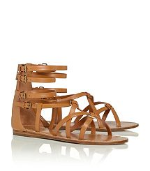 LUCAS FLAT SANDAL-this sandal from Tory Burch will be a great addition to anyone's wardrobe this spring!  It is very versatile and I think the tan color is a great neutral that will work with most combinations you can come up with from your wardrobe!