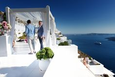 My real wedding in Santorini.