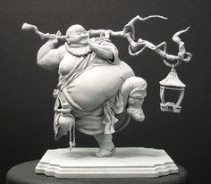 Okii Jijin Monk sculpture by Alena Wooten Character Design References, 3d Character, Star Wars Personajes, Modelos 3d, 3d Prints, Clay Art, Sculpture Art, Art Dolls, Illustration