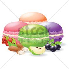 macarons Stock Vector