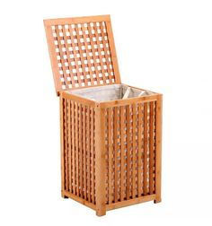 Cesto ropa sucia madera rejilla Wood Laundry Hamper, Use E Abuse, Wood Joinery, Tiny House Plans, Home Living, Bathroom Inspiration, Outdoor Chairs, Zen, Sweet Home
