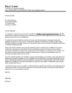 cover letter template for resume for teachers | Substitute Teacher ...