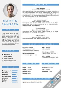 fully editable and overwritable wordpowerpoint resume template including page template - Powerpoint Resume Template