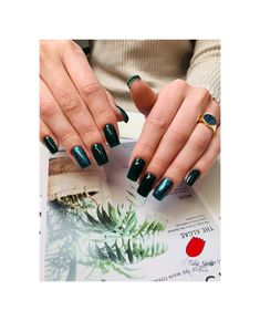 Gel nails Tulip Nails, Green Nails, Tulips, Class Ring, Wedding Rings, Engagement Rings, Jewelry, Green Toe Nails, Enagement Rings