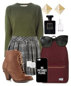 """""""Casually Chic"""" by beautiful-wonderful-world on Polyvore featuring Marni, L'Agence, Mojo Moxy, Herschel Supply Co., Casetify, Chanel and Essie"""