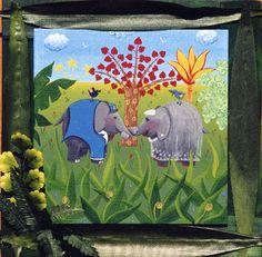 les animaux se marient - Catherine Musnier Peintre / Art naïf, animalier