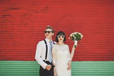 LOVE this photo of an Australian bride and groom. Color makes all the difference. Also reminds me of what the wedding pic would look like if Andy & Ducky got married (Pretty in Pink).
