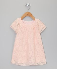 Take a look at this Pink Lace Sheath Dress - Toddler & Girls by Sweet Charlotte on #zulily today!