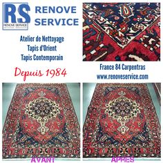 Nettoyage Tapis Bakthiar Avant/Après à Carpentras, France - Vaucluse nettoyage tapis Avignon
