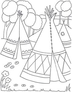 coloring page Native Americans - Native Americans