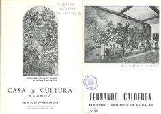 Fernando Calderón Bocetos y estudios de murales Casa de Cultura de Cuenca Abril 1974