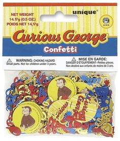 #YoYoBirthday    Unique Industries Curious George Printed Confetti - Free Shipping