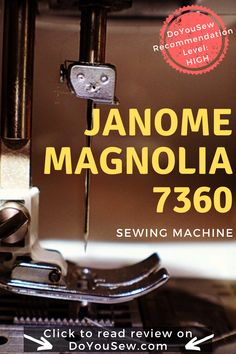 Janome Magnolia 7360 Sewing Machine Review - It is an absolute bang for the buck machine. It would have been perfect if it had a slightly more powerful motor. Click to read about its pros and cons! #doyousew #sewingmachine #sewingmachinereview #ilovesewing #ilovetosew #janomesewing #janomemachine #quilting #quiltlove #crafts #learntosew #sewingbeginner Sewing Blogs, Easy Sewing Projects, Sewing Projects For Beginners, Sewing Machine Reviews, Juki, Janome, Sewing Notions, Learn To Sew, Sewing Techniques