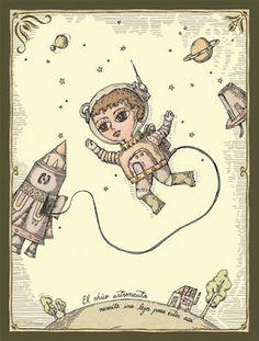"""""""El chico astronauta necesita irse lejos para estar acá"""". Fito Espinoza."""