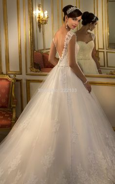 2015 New Stella York Style White /Ivory Ball Gown Sweetheart Tulle Lace Wedding Dress Custom Made $167.00