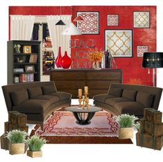 red and brown living room decor. red and brown living room Brown  Living Pinterest Red